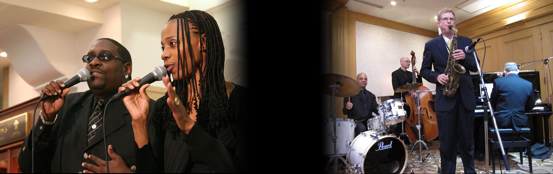 黒人シンガー・ジャズバンドの生演奏